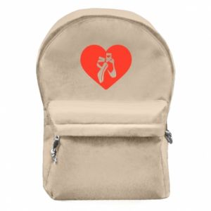 Backpack with front pocket I like dancing