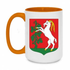 Two-toned mug 450ml Lublin coat of arms
