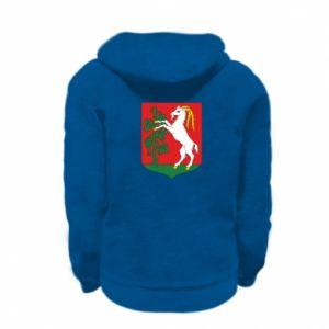 Kid's zipped hoodie % print% Lublin coat of arms