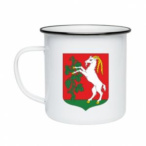Enameled mug Lublin coat of arms