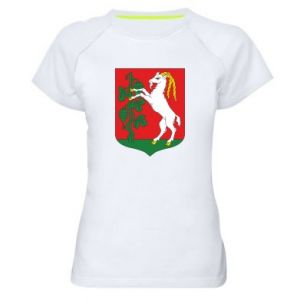 Women's sports t-shirt Lublin coat of arms
