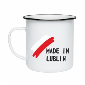 Enameled mug Made in Lublin