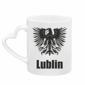 Mug with heart shaped handle Lublin