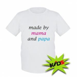 Dziecięcy T-shirt Made by mama and papa