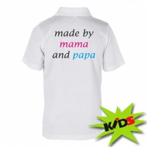 Dziecięca koszulka polo Made by mama and papa