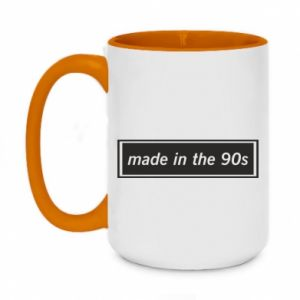 Two-toned mug 450ml Made in 90s