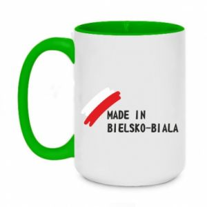 Two-toned mug 450ml Made in Bielsko-Biala