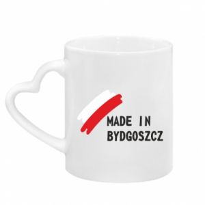 Mug with heart shaped handle Made in Bydgoszcz