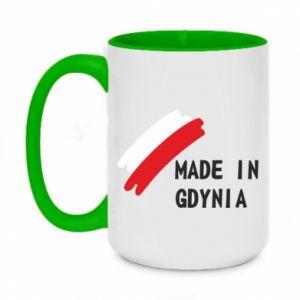 Two-toned mug 450ml Made in Gdynia