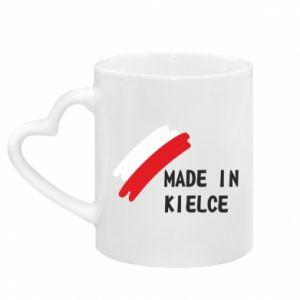 Mug with heart shaped handle Made in Kielce