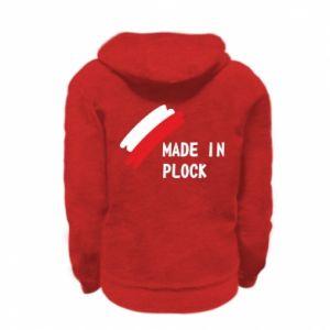 """Kid's zipped hoodie % print% """"Made in Plock"""""""