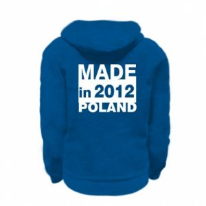 Kid's zipped hoodie % print% Made in Poland