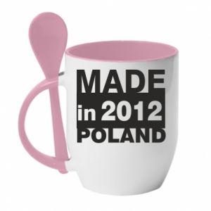 Kubek z ceramiczną łyżeczką Made in Poland - PrintSalon