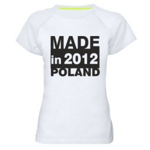 Women's sports t-shirt Made in Poland