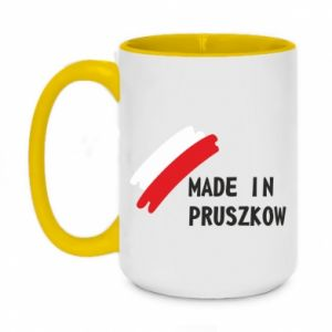 "Two-toned mug 450ml ""Made in Pruszkow"""