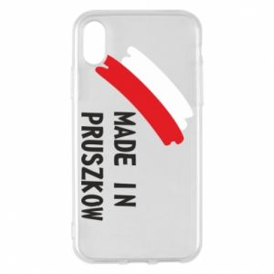 "Phone case for iPhone X/Xs ""Made in Pruszkow"""