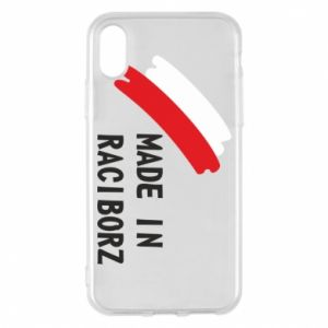 Phone case for iPhone X/Xs Made in Raciborz