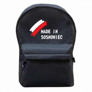Backpack with front pocket Made in Sosnowiec