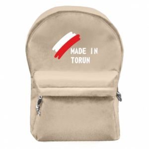 Backpack with front pocket Made in Torun