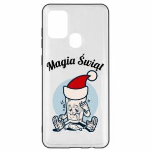 Etui na Samsung A21s Magia Świąt