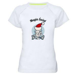 Koszulka sportowa damska Magia Świąt