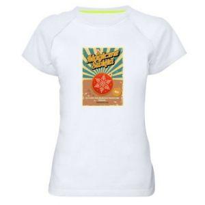 Damska koszulka sportowa Magiczne Święta