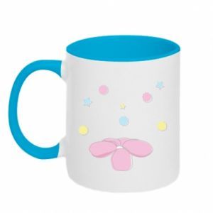 Two-toned mug Magic flower