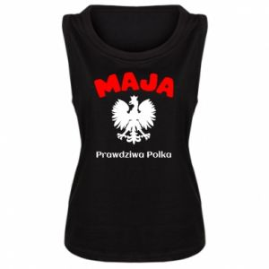 Women's t-shirt Maja is a real Pole - PrintSalon