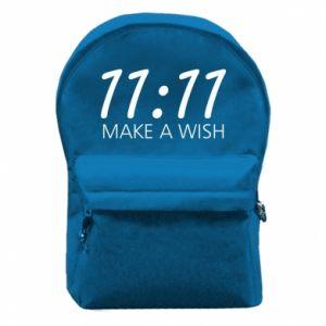 Plecak z przednią kieszenią Make a wish