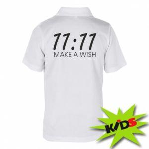 Koszulka polo dziecięca Make a wish