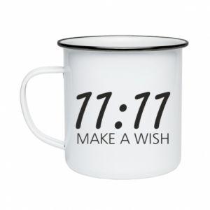 Enameled mug Make a wish