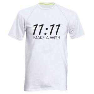 Men's sports t-shirt Make a wish