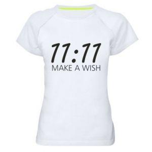 Koszulka sportowa damska Make a wish