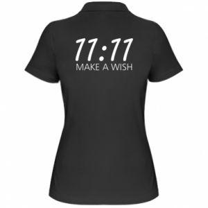 Koszulka polo damska Make a wish