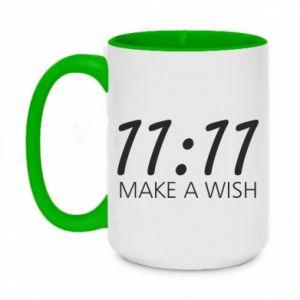 Kubek dwukolorowy 450ml Make a wish
