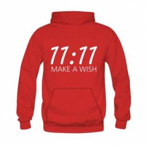 Bluza z kapturem dziecięca Make a wish