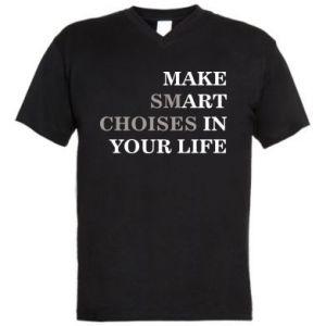 Męska koszulka V-neck Make art in your life