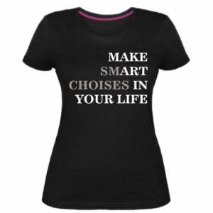 Damska premium koszulka Make art in your life