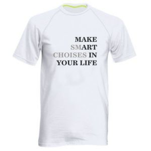 Men's sports t-shirt Make art in your life