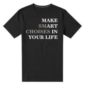 Męska premium koszulka Make art in your life