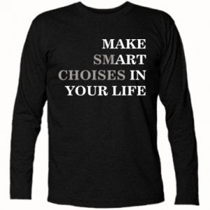 Koszulka z długim rękawem Make art in your life