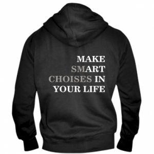 Męska bluza z kapturem na zamek Make art in your life