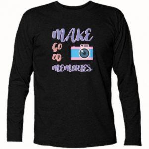 Koszulka z długim rękawem Make good memories