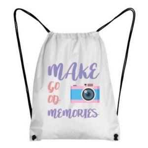 Plecak-worek Make good memories