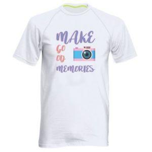 Męska koszulka sportowa Make good memories