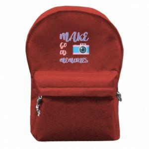 Plecak z przednią kieszenią Make good memories