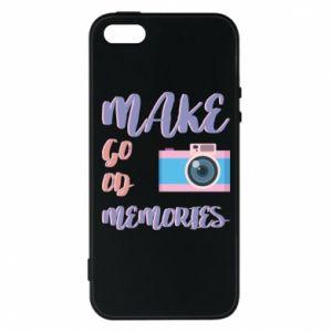 Etui na iPhone 5/5S/SE Make good memories