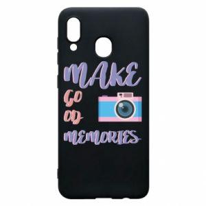 Etui na Samsung A20 Make good memories