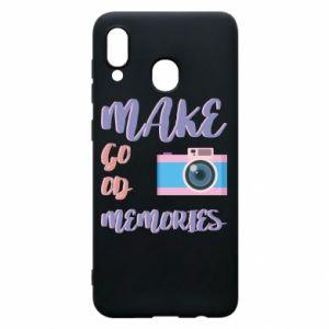 Etui na Samsung A30 Make good memories