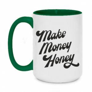 Kubek dwukolorowy 450ml Make money honey